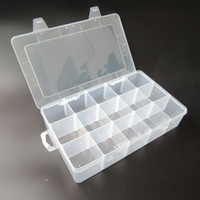 Wholesale Transparent PP Tool Box Electronic Plastic Parts Toolbox Casket SMD SMT Container Screw Battery Component Storage Case