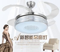 Wholesale Factory direct simple circular iron side restaurant small bedroom living room dining room fan chandelier Chandelier