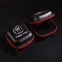 Wholesale Portable Fidget Cube case Toys Zipper Case High Quality zipper case With black colors DHL Free