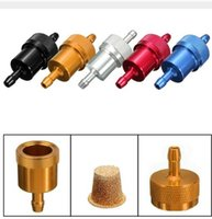 accessories for quad bikes - 10PCS Aluminum Oil Gas Fuel Filter for Dirt Pit Bike ATV Quad Go KartrMoped Scooter Buggy Motorcycle Accessories Gasoline Oil Filter