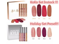 Wholesale Newest Holiday Edition Kylie Lip gloss kylie lip kit kylie Koko Kollection Set Kylie Cosmetics matte lipstick gloss collection