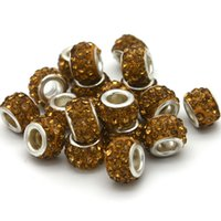Wholesale 100pcs Crystal Beads Big Hole fit Original European Bracelet Pendent Row Crystal DIY Jewelry Make Material