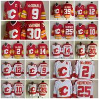 Wholesale Calgary Flames Hockey Jersey Joe Nieuwendyk Lanny McDonald Al Macinnis Gary Roberts Mike Vernon Theoren Fleury Doug Gilmour