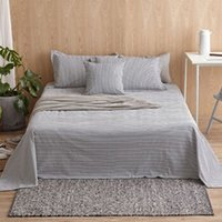 Wholesale Bedding article single piece Sheet mattress cover Bedspread Coarse Cloth hand woven cotton stripe simple style