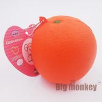 Wholesale 20pcs slow rising PU red orange PU Squishy Charm