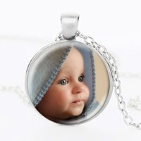 baby wells - Personalized Photo Pendants Personalized Necklace Photo of Your Baby Mum of the Child Grandpa Parent Well Beloved Gift for a Family of Gifts