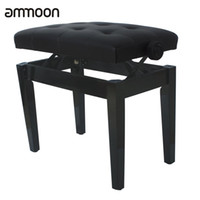 adjustable height bench - High Quality Piano Keyboard Bench Stool Adjustable Height Padded Leather Wood
