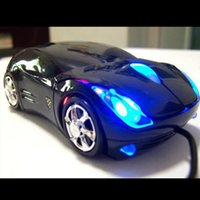 Wholesale New D Optical USB Wired Mouse Mice DPI Car Shape for PC Laptop Notebook Computer Black