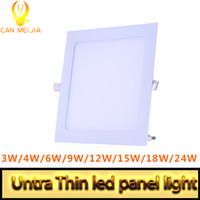 Wholesale Utra Thin Led Panel Light Recessed LED Downlight SMD W W W W W W W V Led Ceiling Lamp Light Square