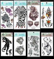All arm tiger - Tiger temporary tattoo cool chest tattoos stickers men waterproof tattoos for sale DHL free mixed order accept
