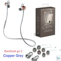 Wholesale 2016 new PLT BackBeat GO Wireless Headphones Sports Sweatproof Bluetooth Earphones Copper Grey Cobalt Black without Charge Case FREE DHL