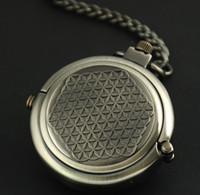 al por mayor los hombres de cadena gris-Grey Alloy Steampunk Unique Archaize Grey Ocultar Esculpido Reloj De Bolsillo Mecánico Libre De La Cadena Bolsillo Fob Relojes Hombre Mujer