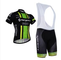 Wholesale Men cycling jersey team scott Green cycling clothing set maillot ciclismo Short Sleeves KTM Ropa ciclismo MTB Cycling Jersey BIB Shorts