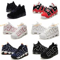 asia shoes - 2017 More Uptempo OG Scottie Pippen Red Asia Hoop Pack White Blue Black Basketball Shoes Men Olympics Pippen Sport Sneakers Trainers