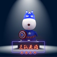 Wholesale Poly passenger car long mouth dog shaking his head car resin resin spring Decoration officer series hero series