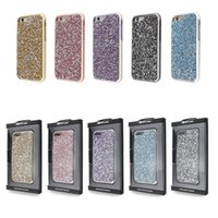 Cheap Premium bling 2 in 1 Luxury diamond rhinestone glitter back cover phone cases For iphone 7 5 6 6s plus case Package available