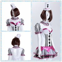 alice queen costume - Alice Costume Poker Queen Maid Uniform Waitress Dress Magic Show Assistant Clothing With Hat and Neckline