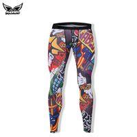 Wholesale MADHERO Men s Sport Pants Running Tights Digital D Printing Pants Elastic Bodybuiliding Trousers Fitness Bodybuilding Leggings