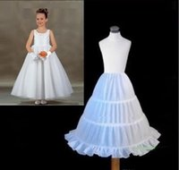 Faldas para las muchachas de los niños España-Chicas Baratos Enaguas Para Niños Vestido Una Línea Faldas Tutu Ropa Interior Ropa Formal Vestidos Vestidos De Novia Accesorios Petticoat Bustle Blanco