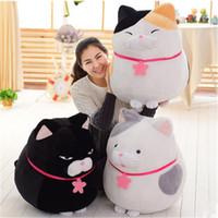 al por mayor japón gato animado-Big Fat Cat felpa juguete gigante rellena de Japón Anime AMUSE muñeca de gatos para niños