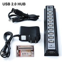 Wholesale 10 Ports USB HUB Mbps Hi Speed Extension Adapter Cable For Keyborard PC Laptop with Retail Package DHL Free OTH340