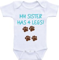 baby brother shirts - Dog shirt Big brother My Sister has four legs Cotton Dress Boy Girl clothes M Newborn baby sleepsuit Working onesie New Dad Mom