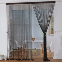 Wholesale Top Selling Line Tassel String Door Curtains Panel Window Room Divider Curtain Valance Home Decoration Pc Size S L JI0246