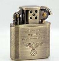 ancient metal - Zorro bronze prince type restoring ancient ways eagle fine copper shell kerosene lighter German world war ii
