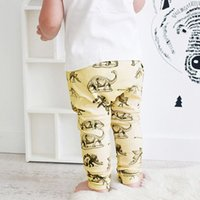 Cheap Infant Babies Dinosaur Skeleton Pants Toddler Children New Autumn Clothes Trousers Kids Boys Girls Cartoon Casual Wear 6-24Month