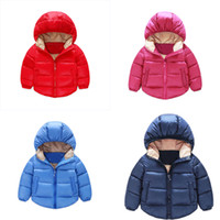 Wholesale New Arrival baby kids cotton clothing winter Outwear children s candy color clothes Down Coat For boys girls Thicken down Jackets