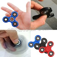 Wholesale Fidget Spinner Toy Tri Finger Spinner EDC Hand Spinner For Decompression Anxiety Toys For Big Kids Adults Colorful Best Gifts Retail Box