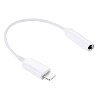 White Lightning Cable for Iphone 10mm 10 pieces Lot Earphone Adapter Lightning to 3.5mm AUX Cable Audio Jack Female Converter Headphone Jack Adapter For iPhone 7 6 6s plus