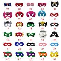 batman costume mask - HOT Super Hero Mask Batman Spiderman Iron Cosplay Hulk Thor Felt Mask Halloween Party Costume Children