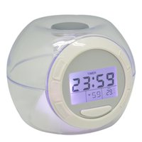 Wholesale Multi funtional Color Changing LED Digital Alarm Clocks Creative Thermometer Lcd Screen Table Clock Home Decor