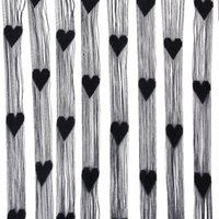 Wholesale Fringe Rope Heart Screen door curtain Black