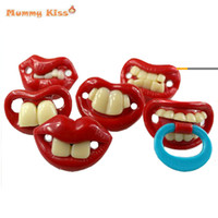 baby pranks - Funny Pacifiers Silicone Baby Pacifier Cute Tooth Prank Toddler Pacy Orthodontic Nipples Chupones Divertidos c50