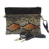 Wholesale Women Messenger Bags Fashion Snakeskin With PU Shoulder Crossbody Bags Ladies Serpentine Pattern Versatile Zipper Clutch Bag