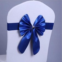Wholesale New cm Taffeta Chair Sashes Banquet Decoration Wedding Home Party Chair Bow Color can Choose