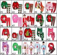 Wholesale New Kids Christmas Suits set Boys Girls Christmas Pajamas Santa Claus Snowflake Deer Sleepwear for T Kids Christmas Outfit D732