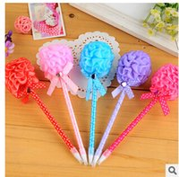 Wholesale Carnations style plastic ballpoint pen stationery gift pen multicolor oil