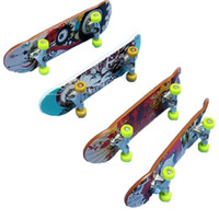 Wholesale Children s Toys Animation Neighboring Model Finger Board Truck Mini Alloy ABS Skateboard Playing Toys