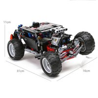 Wholesale odels Building Toy Blocks DECOOL Hummer Building Blocks Technic Transport SUV Racing Car Truck Model Toys Brick Toys For Children Hummer