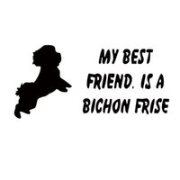 best friend stickers - New Product Car Styling Creative Personality Best Friend Is A My Bichon Frise Dog Cute Fashion Car Stickers Vinyl Decal
