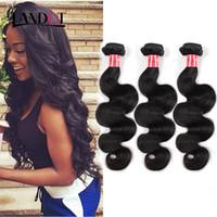 cheap black hair - 7A Peruvian Brazilian Malaysian Indian Cambodian Virgin Hair Body Wave Cheap Human Hair Weave Wavy Bundles Natural Black Remy Hair Extension