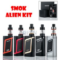 baby silvers - 100 Authentic SMOK Alien Starter Kit With ML TFV8 Baby Tank W ALIEN W MOD ohm ohm V8 Baby Core VW TC Function Top Fill System