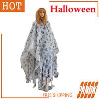 bar rags - Halloween costume bar chamber props Decoration Halloween masquerade show adult skull horror rags Cloak