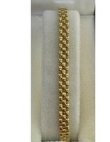 Bracelet en or jaune 14k orné de 10,87 grammes 7,25 pouces