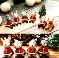 best home furnishings - Lovely Christmas Wedding Santa Animals Decoration Cute Resin Gift Home Decor Furnishings Your Best Choice