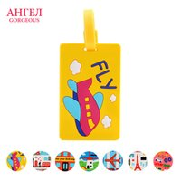 Wholesale Brand new and high quality color Portable Secure Travel Suitcase Name Address ID Luggage Handbag pvcLarge Tag Label LuggageTag