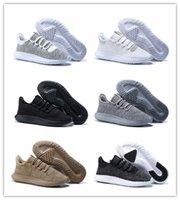 al por mayor us12 tubular-2017 Venta al por mayor Tubular Shadow Knit Zapatillas zapatos de los hombres de las mujeres zapatillas de deporte negro blanco verde gris deportes zapatos de alta calidad de tamaño 36-45